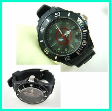 Marvel Super Hero Deadpool Boy Man Metal Silicone Wrist Watch Wristwatch + CHARM