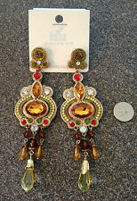 New Sexy Gold multi color Large Gypsy Chandelier India Tribal Ethnic Earrings