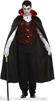 Mens Deluxe Vampire Halloween Dracula Vamp Fancy Dress Costume Outfit One Size