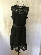 NWOT ROMEO + JULIET COUTURE Black Lace Boho Luxe Women's Dress (L) MSRP $195.00