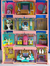 Mini Polly Pocket Puppenhaus Stapelvilla 4 Zimmer Pavillon Pool Dächer Figuren