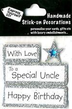 Joyeux anniversaire avec amour spécial oncle Bricolage Carte de vœux Toppers