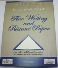 Resume Paper and Fine Writing - 100 Sheets 26 Lb and 40 Envelopes - Beige