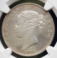 1874 Great Britain UK Half Crown NGC AU Details Sterling Silver Coin RARE