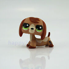 Littlest Pet Shop Tan Brown Green Eyes Dog LPS Figure Kid Xmas Toy