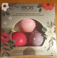 EOS Holiday Lip Balm 3 Pack Set Lot Limited Full Size 25 oz Gluten Free Smooth