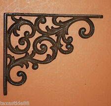 "(6)pcs, 9 1/4"" VICTORIAN STYLE WALL DECOR CAST IRON SHELF BRACKETS, BRACE,B-23"