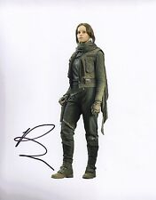 Felicity Jones Signed 10X8 Photo Rogue One: A STAR WARS Story AFTAL COA (5519)