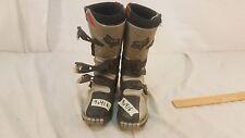 Fox Tracker Jr Junior Black Motocross Racing Boots EU 35 US 3.5 3 1/2 K2 40416