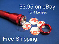 AA Mini Maglite Shatterproof Crystal Clear Lens (4 lenses) $3.95 FREE SHIPPING