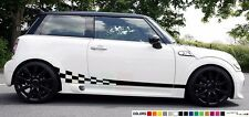 Sticker Stripe kit for mini cooper s checkered graphic lowered skirt tune wave