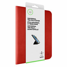 BELKIN TRIFOLD UNIVERSAL FOLIO CASE COVER FOR 10 INCH TABLET RED F7P356BTC01