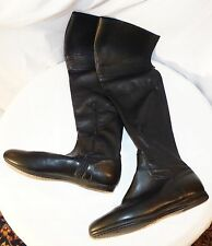 Authentic Lili Mill Black Leather Boots Knee High Sz 37/7 Very good Condition