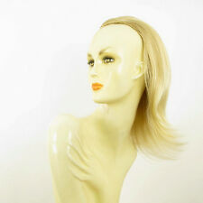 DT Half wig HairPiece golden blond poly mesh very light blond 15.7 :18/24bt613