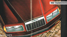 1983 Ford THUNDERBIRD T-BIRD Dealer Brochure/Pamphlet:TURBO COUPE,HERITAGE, '83