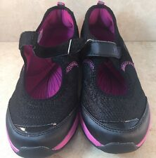 Vionic Mary Jane Sneakers Athletic Shoes Sunset Black Pink Women's 8 Adjustable