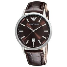 Authentic Emporio Armani AR-2413, Classic Brown Strap Watch For Men