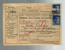 1943 GG Dydnia Poland Registered PArcel Cover