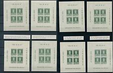 [14916] Argentina 1935 Philatelic Expo BA 8 different sheets all different! MNH