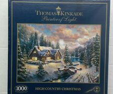 GIBSONS JIGSAW 1000pcs  THOMAS KINKADE HIGH COUNTRY CHRISTMAS £11.99