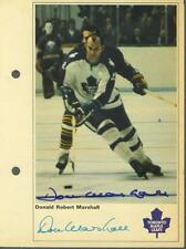 Don Marshall signed Maple Leafs 1971-72 Toronto Sun NHL Action players photo