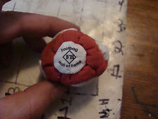 hacky sack FOOTBAG HALL OF FAME, red/brown and white, neat, soft,