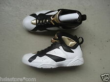 "Nike Air Jordan 7 Retro 44 ""Championship"" White/Metallic Gold-Black"