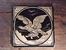 C.1875 Antique MINTON England ACHITECTURAL TILE Aesop's Fable EAGLE & TURTLE
