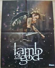 IRON MAIDEN  /  LAMB OF GOD    __ 1 Poster /  Plakat  __ 44,5 x 58 cm
