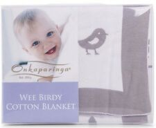 Onkaparinga: Baby Wee Birdy Cotton Blanket - Great for Prams, Bassinets and Car