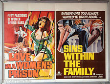 Cinema Poster: LOVE IN A WOMEN'S PRISON/SINS WITHIN THE FAMILY 1972 (Quad)