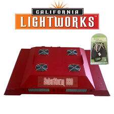 California Light Works Solar Storm 880W LED Grow Light w/ UVB w/ free ratchets