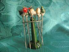 11 cocktail brochettes fête brochettes elle fête vert plastique deco retro 18029