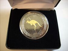 2016 1 OZ SILVER Dollar PERTH MINT KANGAROO BLACKOUT COLLECTION RUTHENIUM-24KT