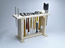 Hammer Rack Tools Holder Solid Oak Wood Stand Hammer Holder Storage Organiser