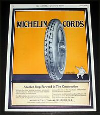 1921 OLD MAGAZINE PRINT AD, MICHELIN CORD TIRES & WHEELS, ANOTHER STEP FORWARD!