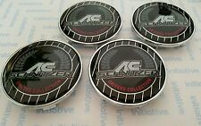 4x AC SCHNITZER wheel center caps 68mm (BMW)