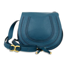 Chloe Marcie Medium Saddle Bag - Steel Blue
