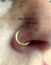 CLIP ON Nose Ring Body Jewelry Clip on Ring Non piercing fake nose ring HandMade