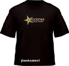 Rockstar Black T-Shirt Heavyweight 100% Cotton (XL)  Pre-shrunk *NEW