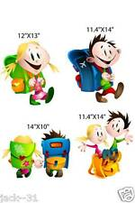 Wall sticker 4X  DAYCARE KIDS STICKERS NURSERY BACK TO SCHOOL CHARACTERS