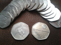 Commemorative 50p Circulated Coins - Olympic 2012 - NHS - WWF- Victoria Cross