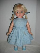 """VINTAGE 1973 Deluxe Reading Topper 18"""" Non Working Battery Operated Baby Doll"""