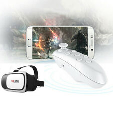 VR BOX Virtual Reality 3D Glasses Bluetooth Remote Control For Smartphone PC