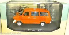 Ford Transit orange 1969 Schulbus  1:43 Atlas 7421110 NEU in BOX #HB4 µ