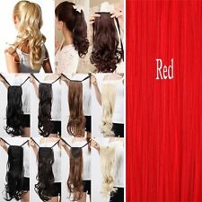 US STORE Long Tie up Pony tail Clip in on Ponytail Hair Extensions for 5% human