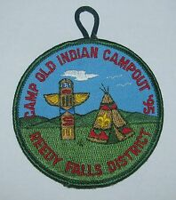 Camp Old Indian (SC) 1995 Reedy Falls Dist Campout Pocket Patch  BSA