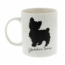 Best Of Breed Yorkshire Terrier Silhouette Typography Style Mug Present Gift
