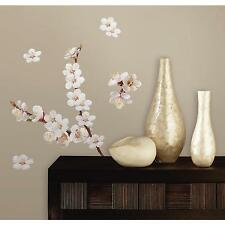 WHITE FLOWERS wall stickers 26 decals ASIAN inspired room decor DOGWOOD tree