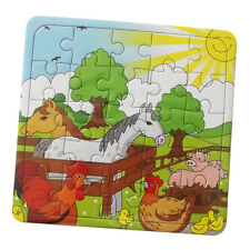 6 x Farm Animal Mini Jigsaws Puzzles, Party Bag Fillers Toys Unisex Kids Favours